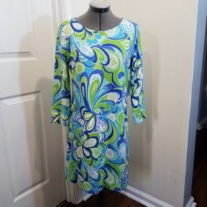 Crown and ivy under the sea swirl dress S